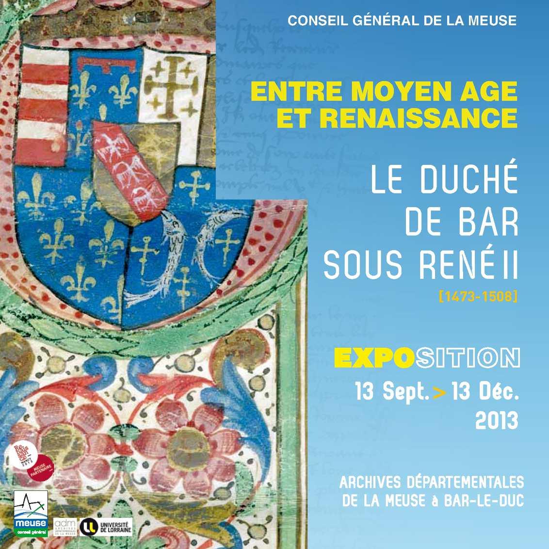 Exposition le Duché de Bar sous René II