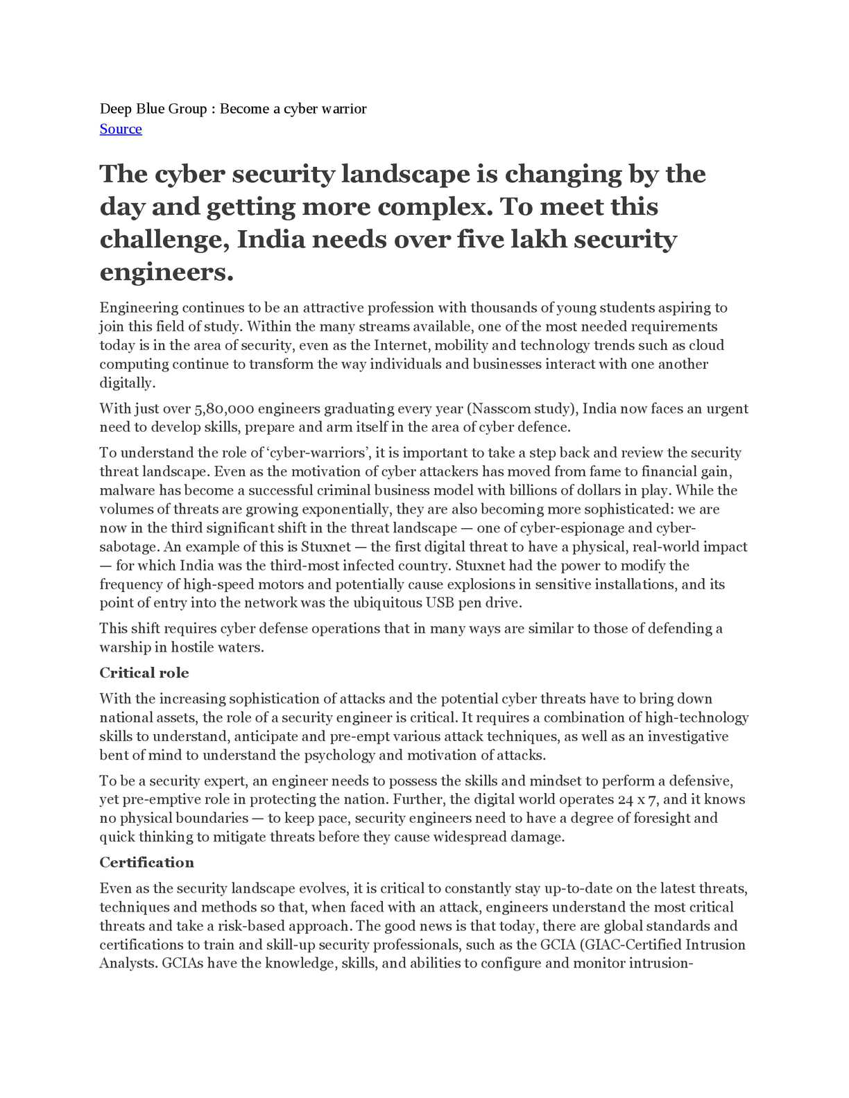 cyber security in india essay