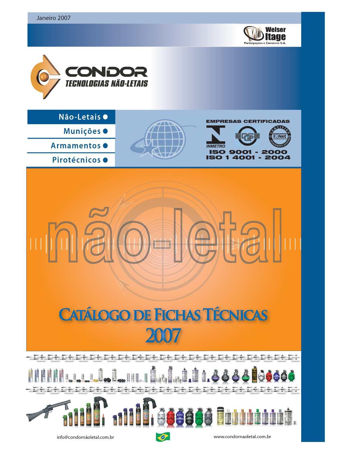 4. Catalogo de Fichas Técnicas de Condor