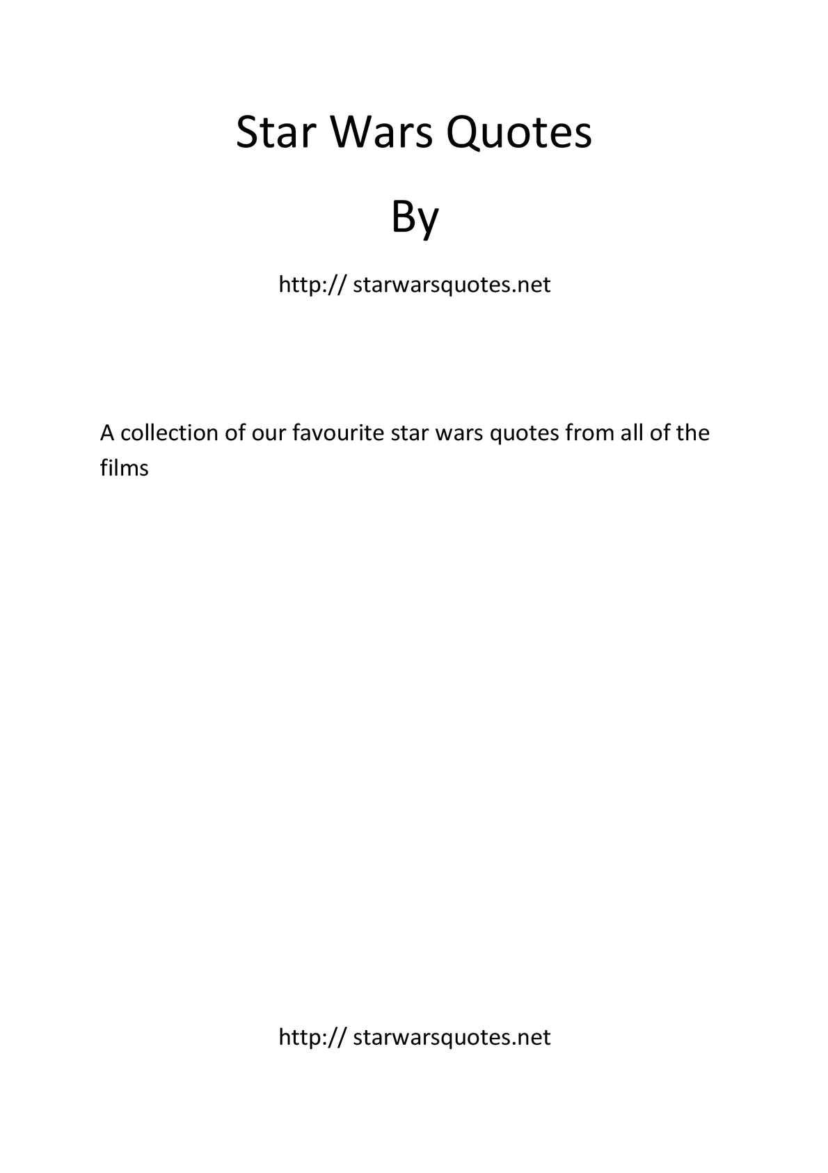 Calamo Star Wars Quotes