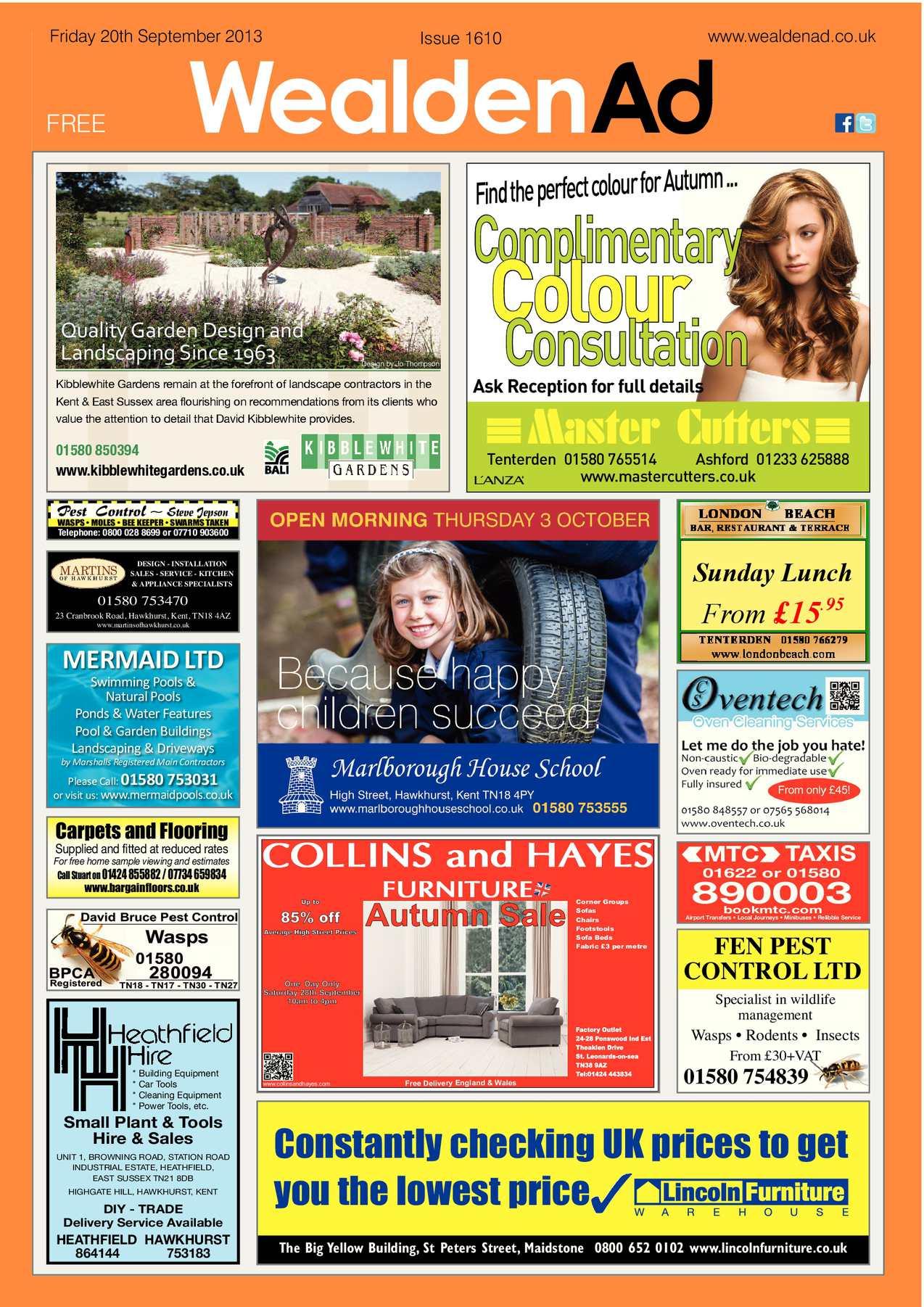 Calaméo Wealden Advertiser 20 09 2013
