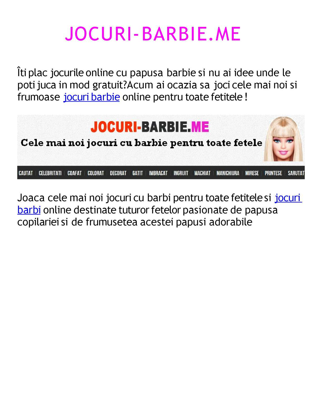 Calaméo Jocuri Barbie