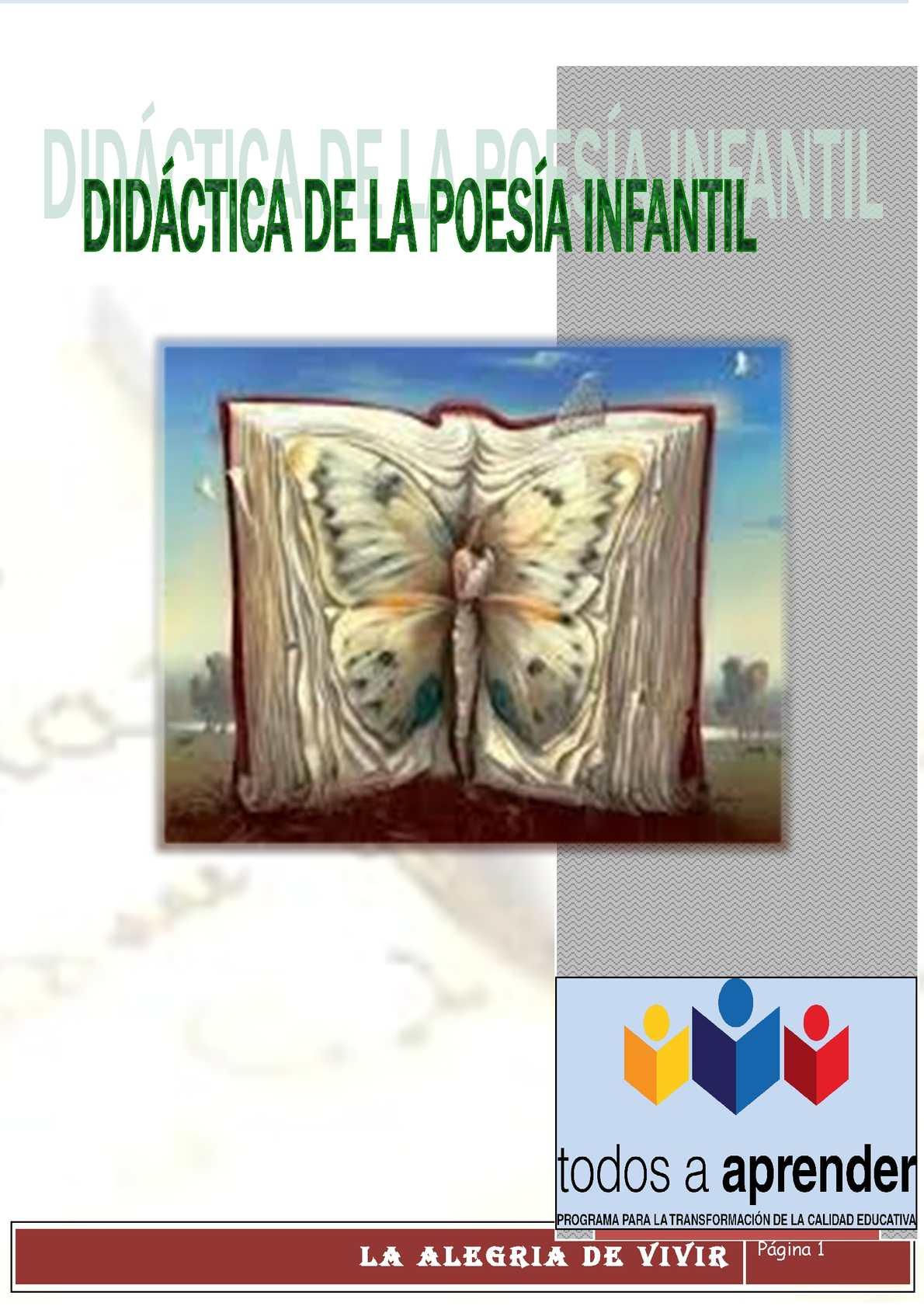 Calaméo - Didáctica de la poesía infantil
