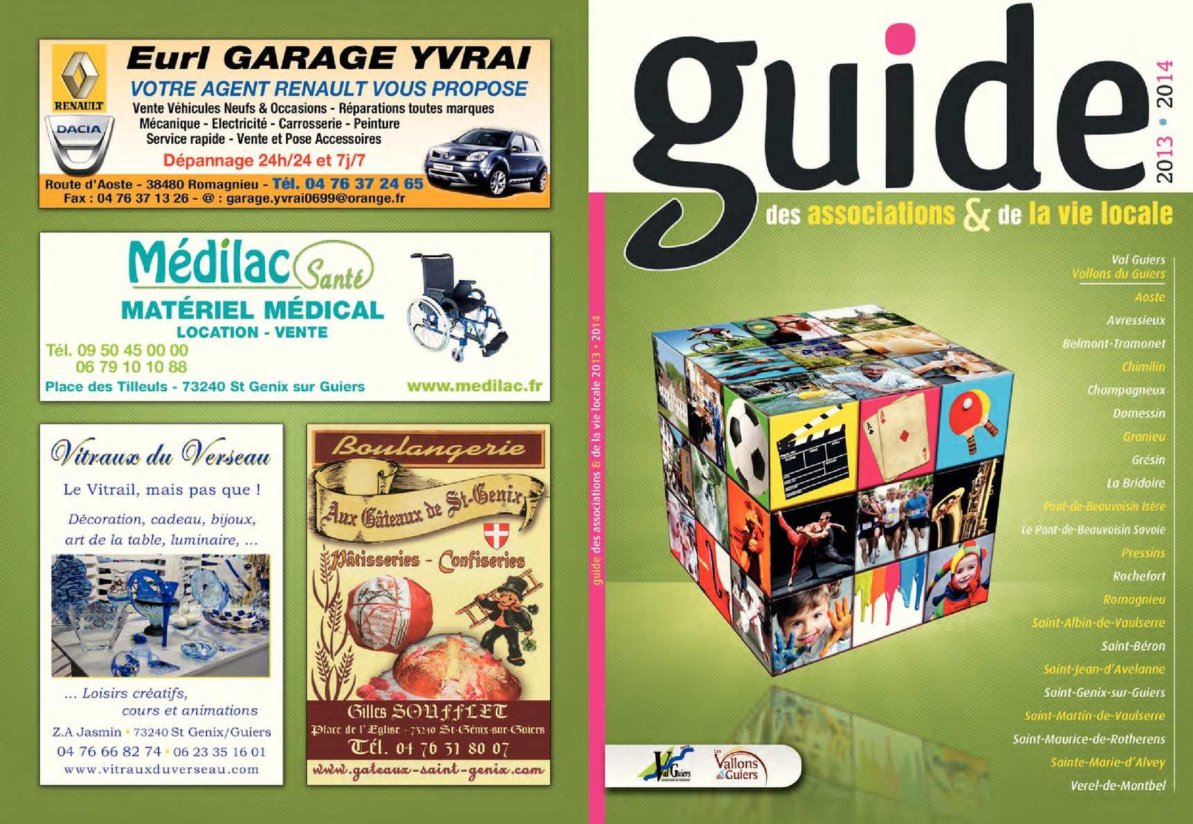 Calam o guide des associations 2013 2014 - Saint genix sur guiers office du tourisme ...