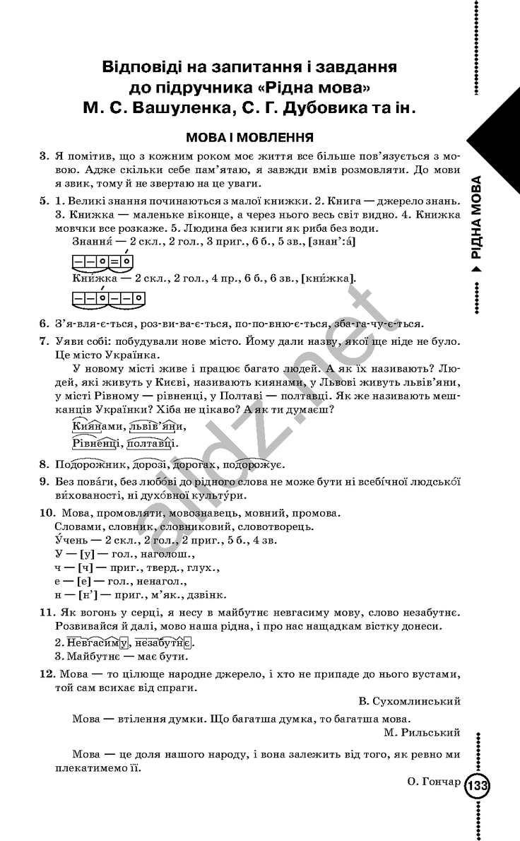 ермоленко 7 к класс решебник мова учебнику ридна