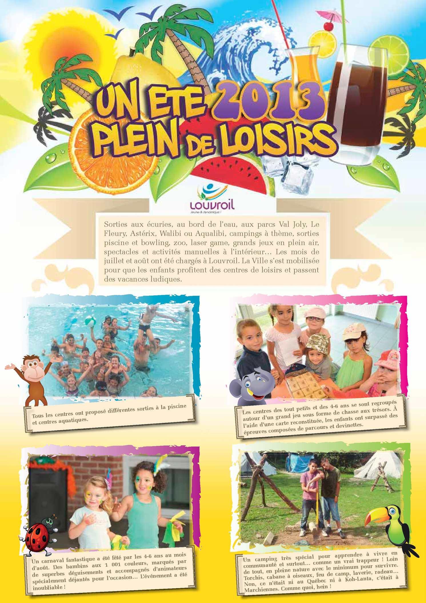Calam o poster 2013 des centres de loisirs d 39 t for Piscine louvroil