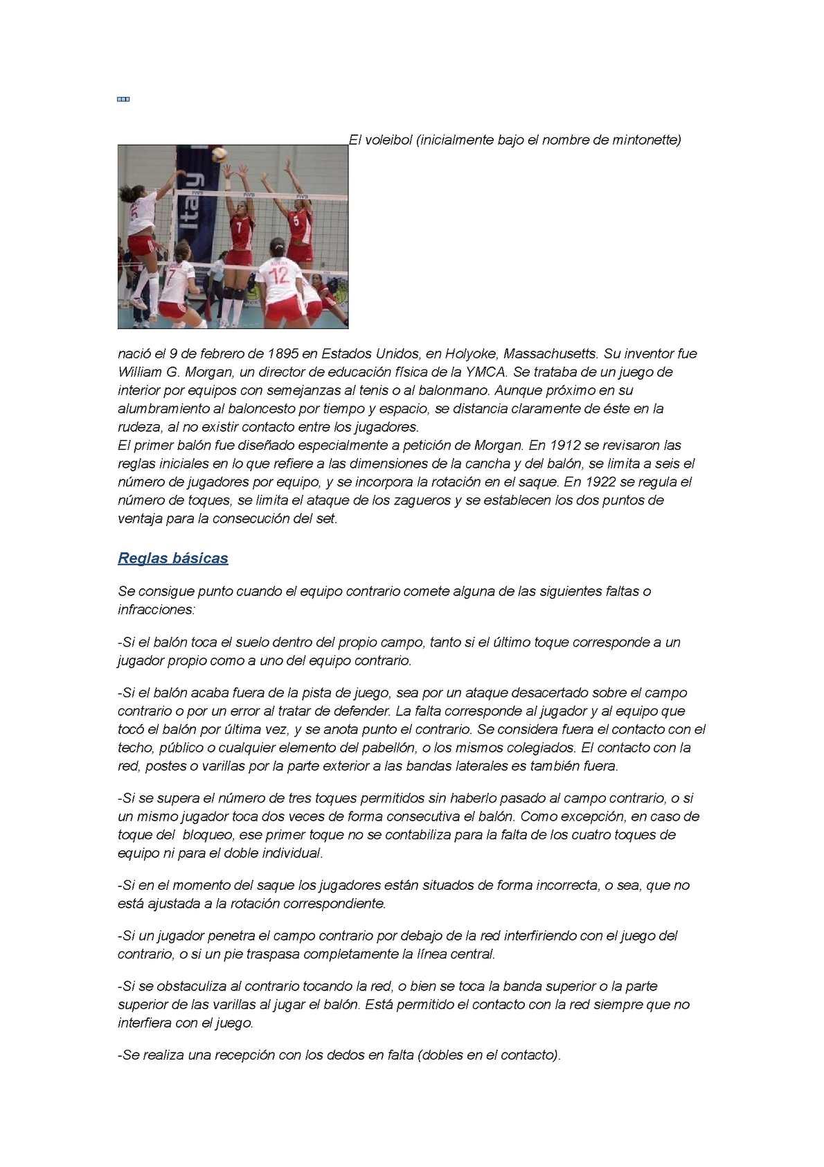 Calaméo - El voleibol