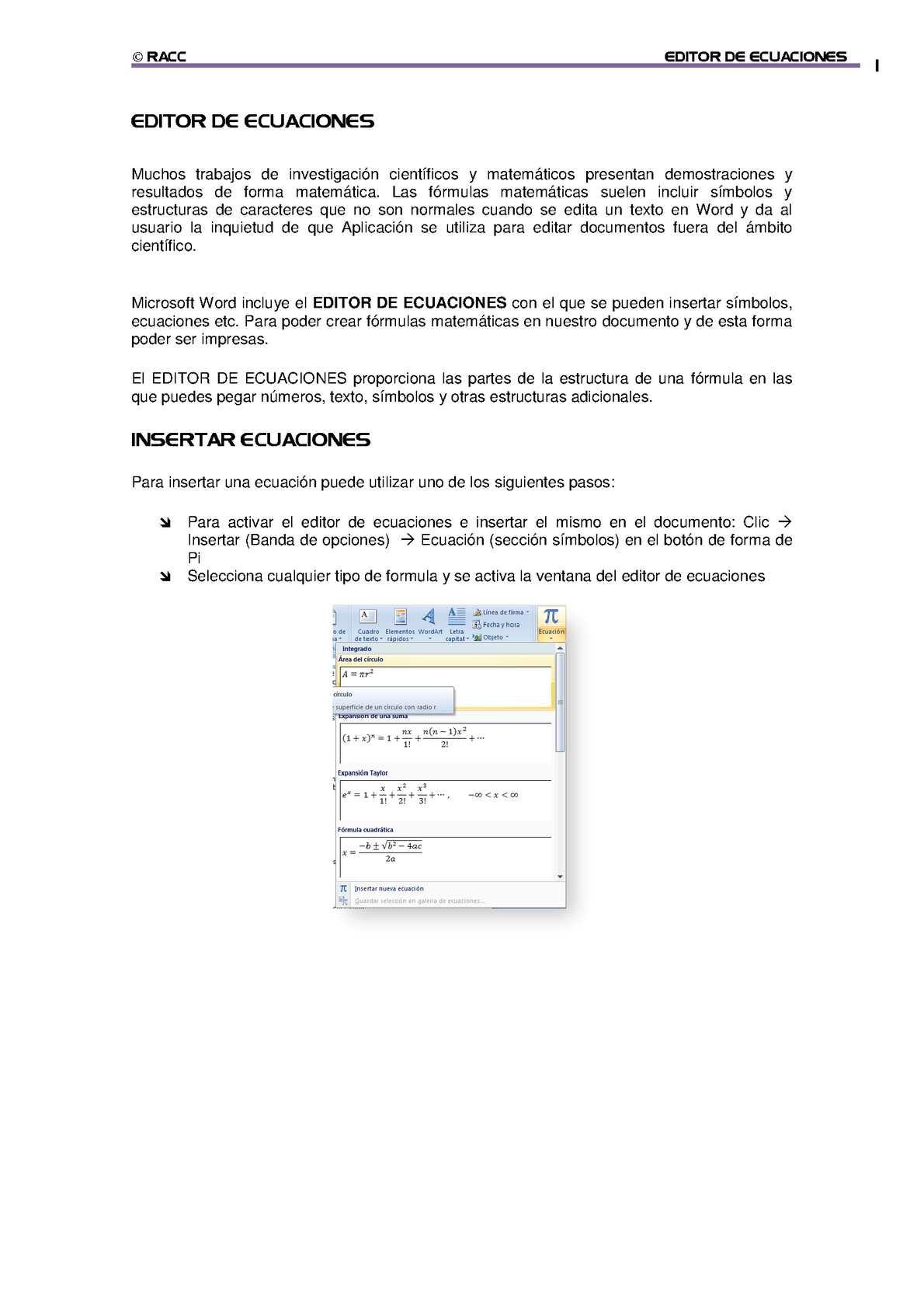 Calaméo - Editor de ecuaciones de office