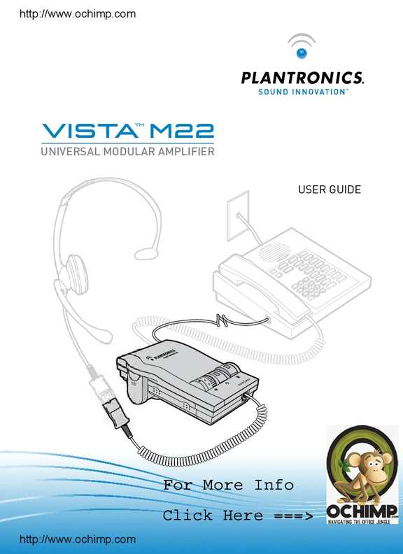 calam o plantronics vista m22 audio processor user guide rh calameo com M12 Plantronics Headsets Headsets for Plantronics M22