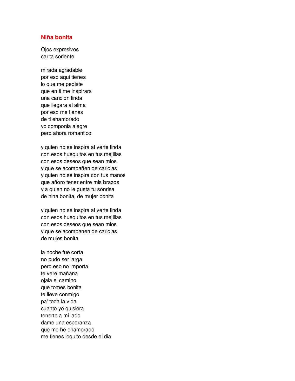 Calaméo Letra De Canciones