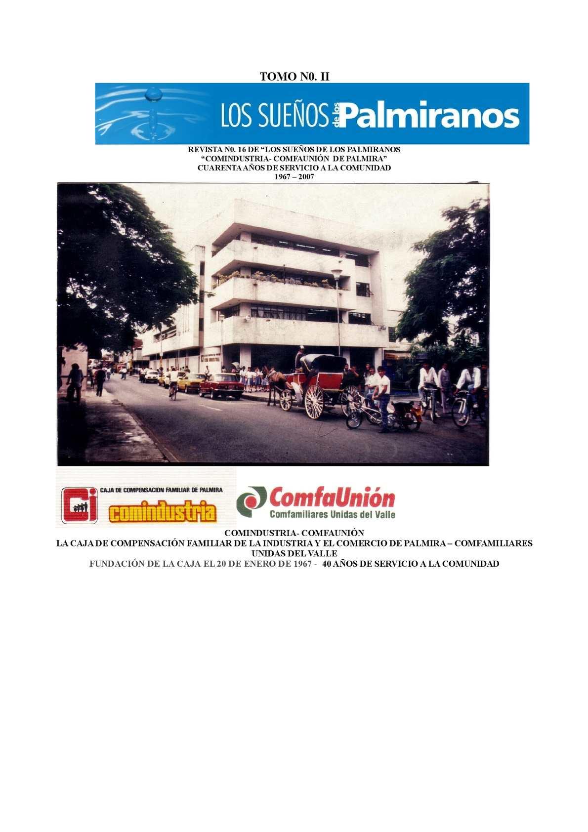 Calam O Revista N0 16 Tomo Ii Comindustria Comfauni N  # Muebles Lozano Buga