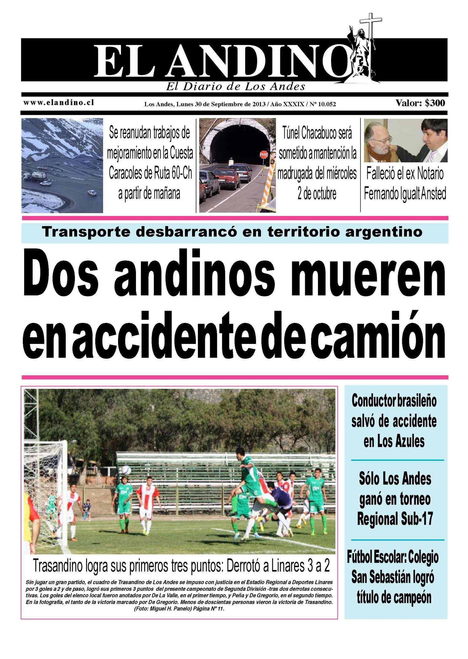 Calaméo - Diario El Andino - Lunes 30 de Septiembre de 2013