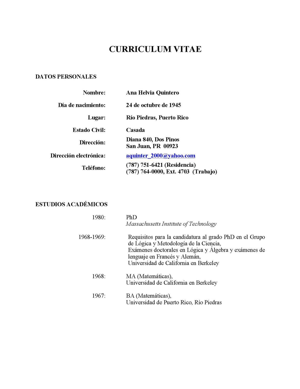 Calaméo - Curriculum Vitae A H Quintero 2013