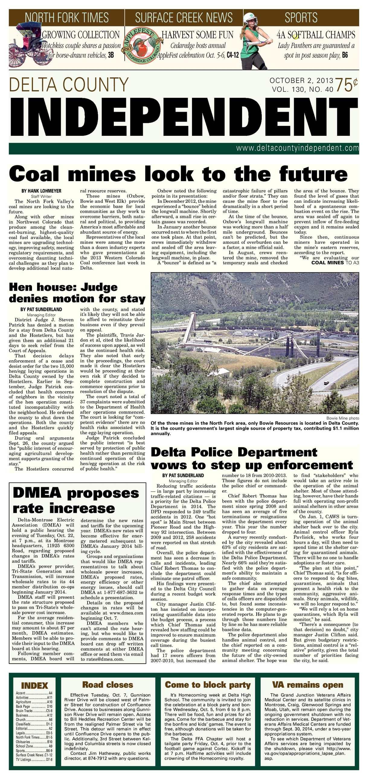 Calaméo Delta County Independent Oct 2 2013