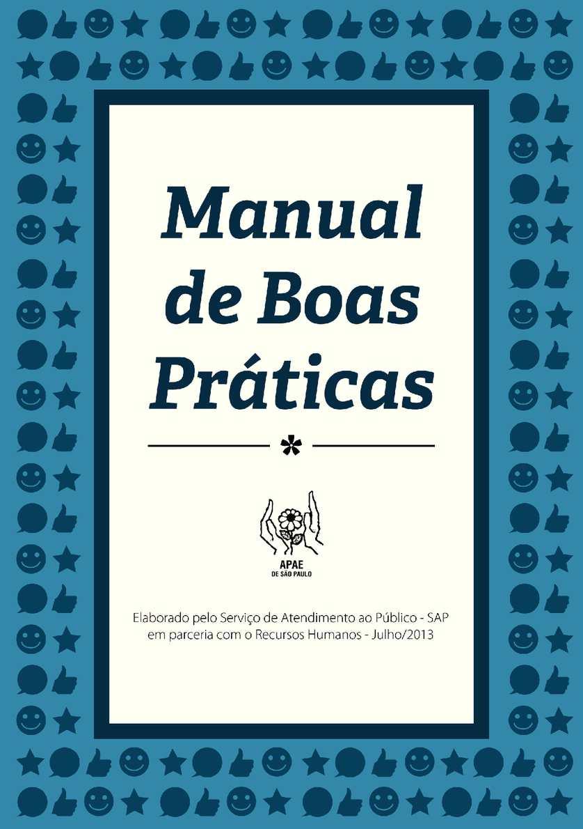 Manual de Boas Práticas - APAE DE SÃO PAULO