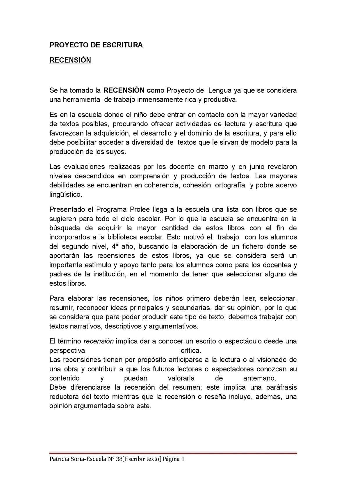 Calaméo - PROYECTO DE ESCRITURA
