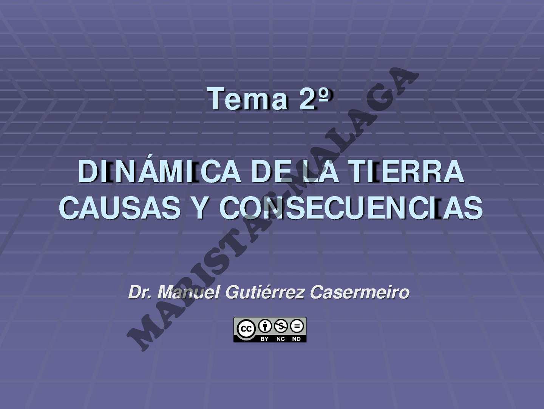1º BAC-TEMA 02 Dinamica de la tierra-2013