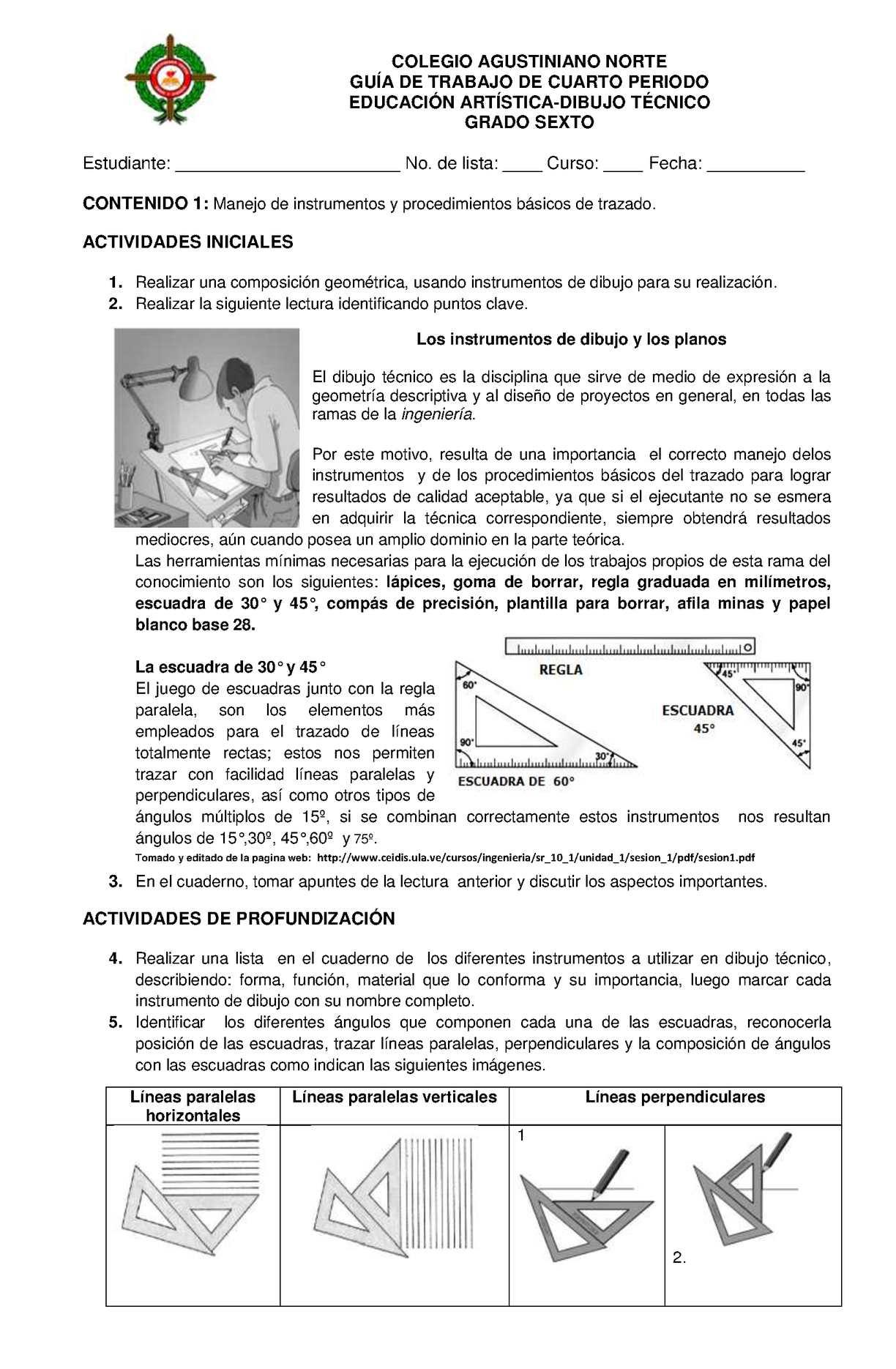 Calaméo - GUIA DE TRABAJO DIBUJO TÉCNICO SEXTO