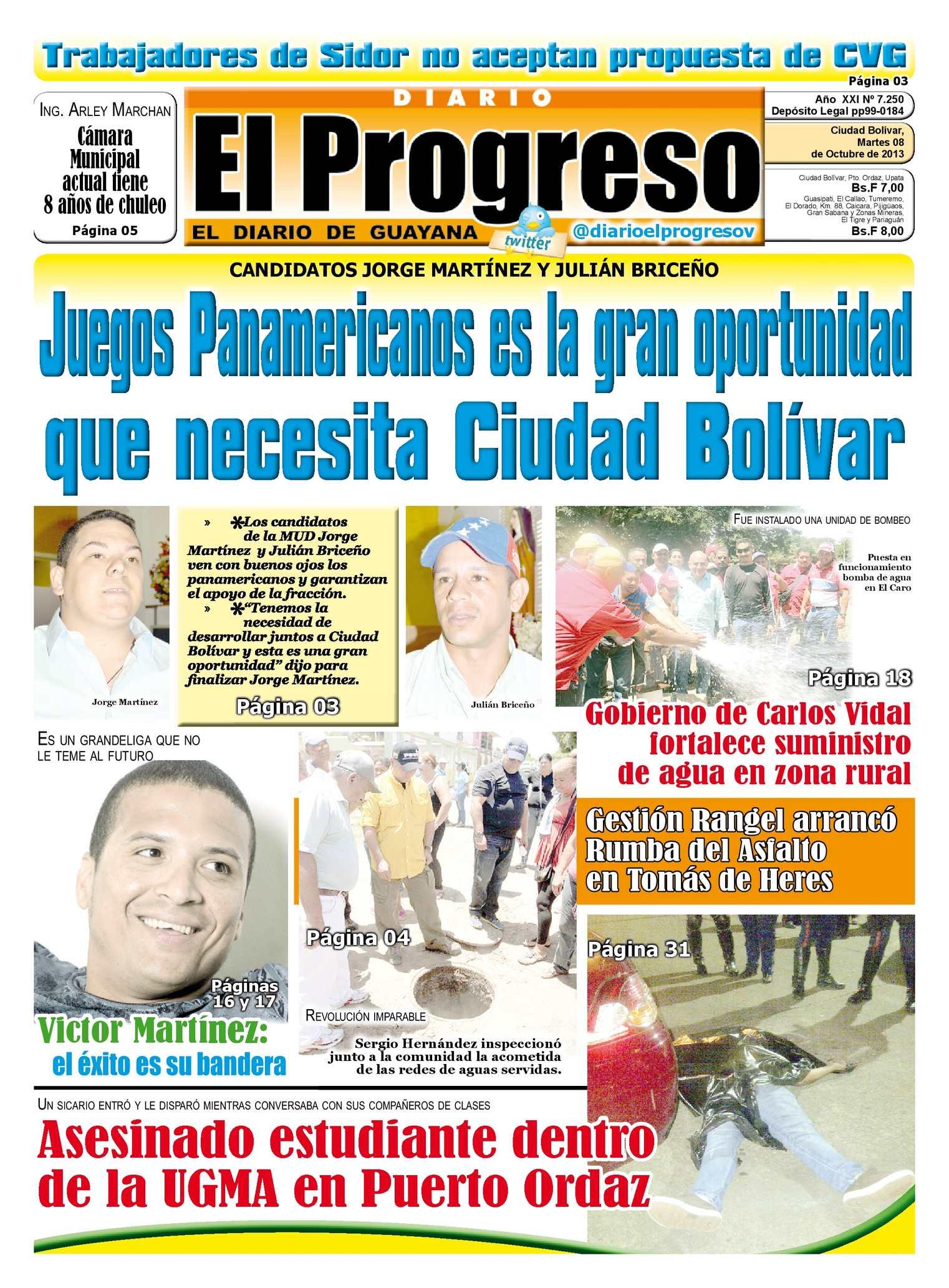 diario el progreso ciudad bolivar: