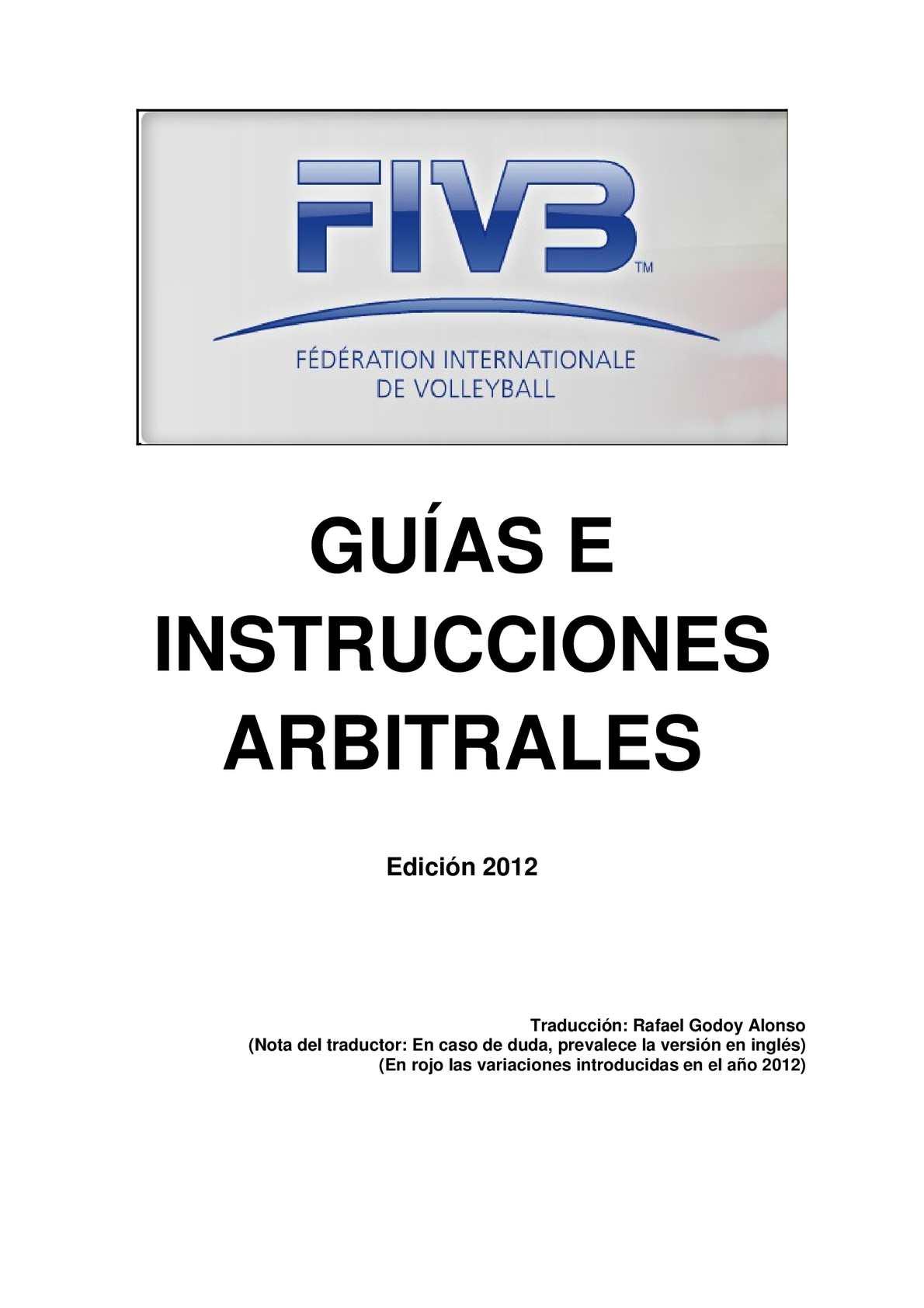 Calaméo - Guías e Instrucciones Arbitrales FIVB.- 2012
