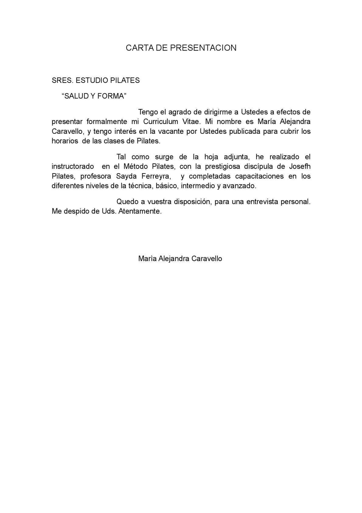 Calaméo - CARTA DE PRESENTACION