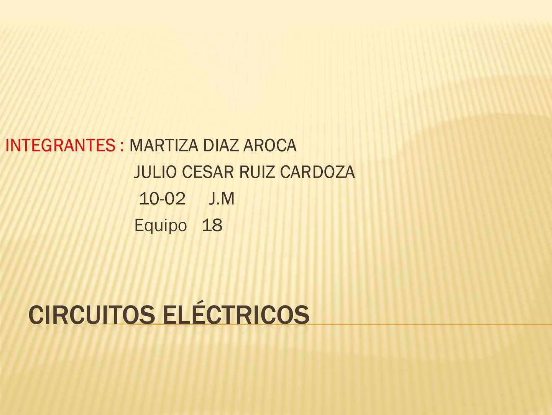 Circuito Hidraulico Mixto : Calaméo circuito electrico