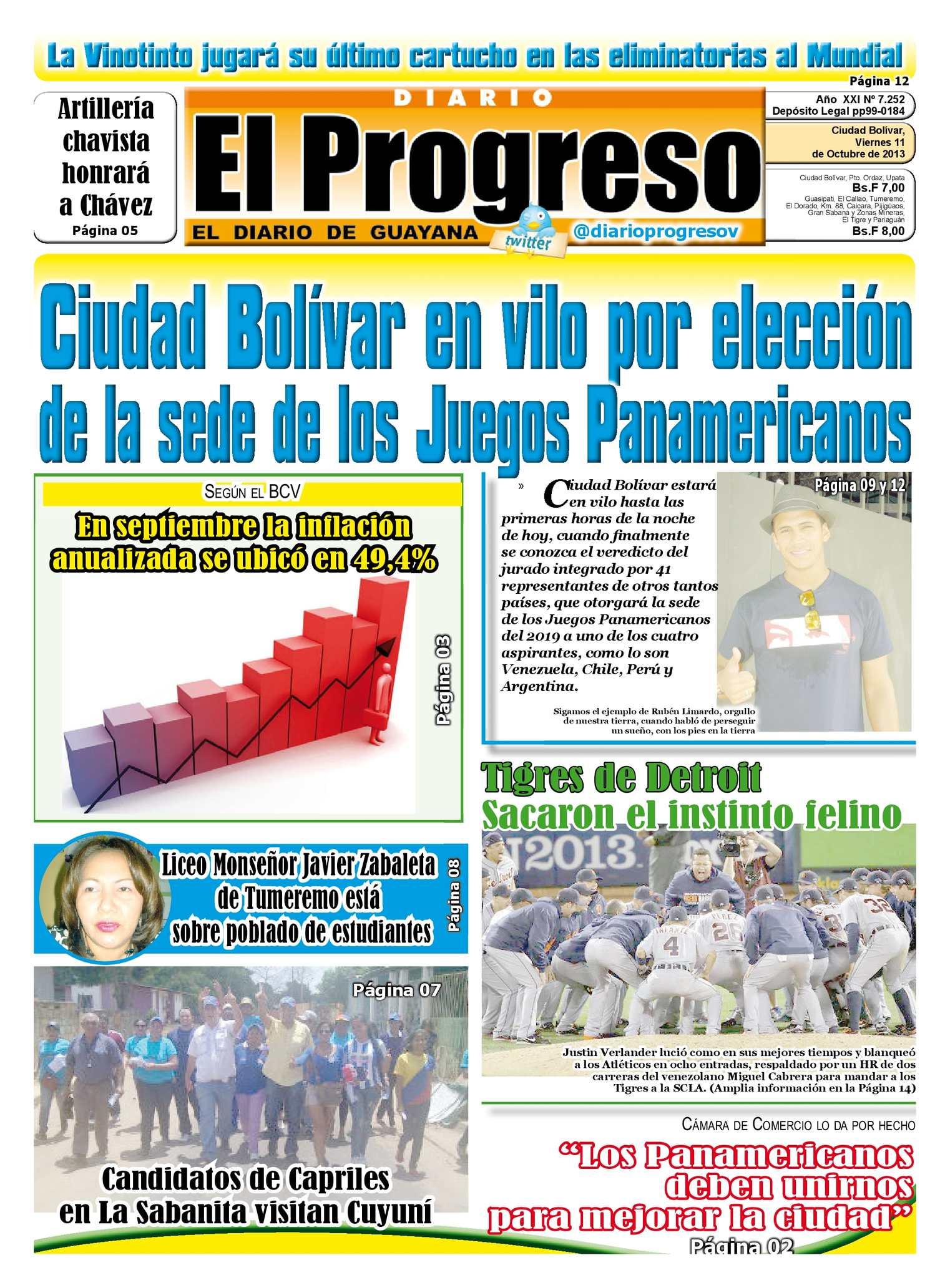 Calaméo - DIARIO EL PROGRESO EDICIÓN DIGITAL 11-10-2013