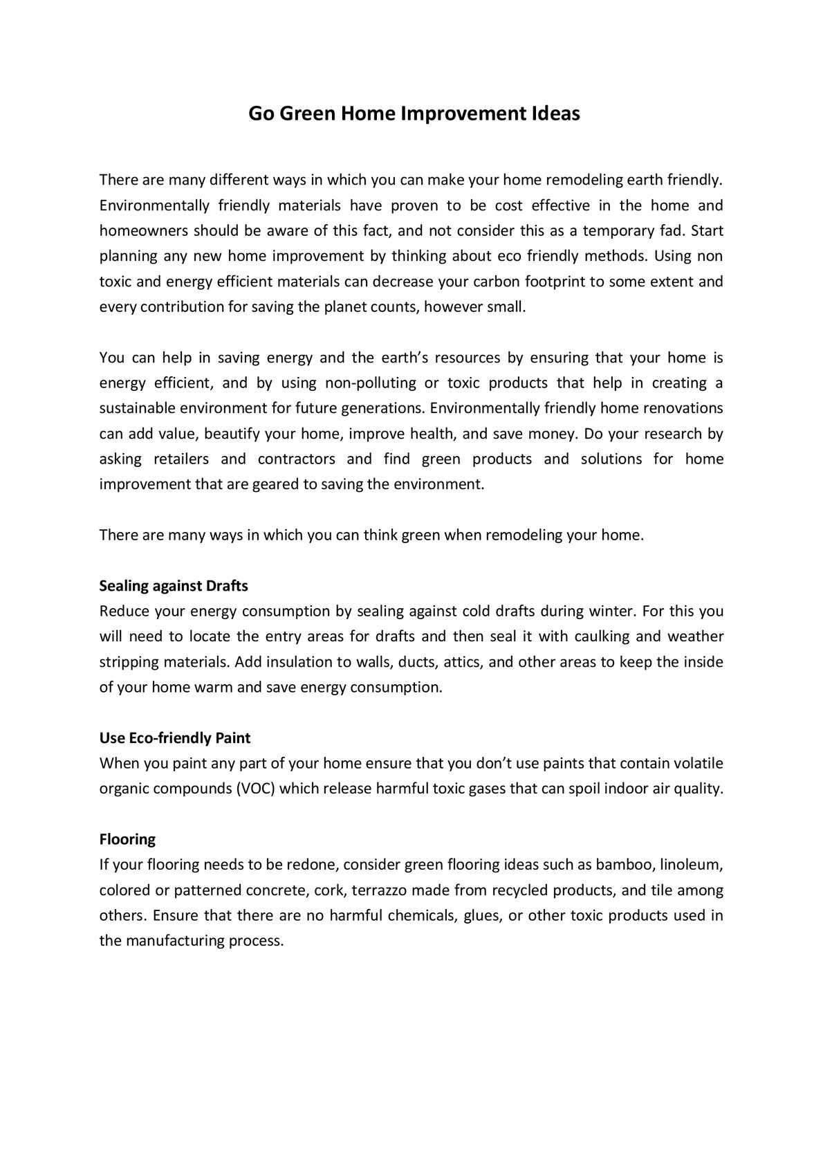 Calaméo - Go Green Home Improvement Ideas