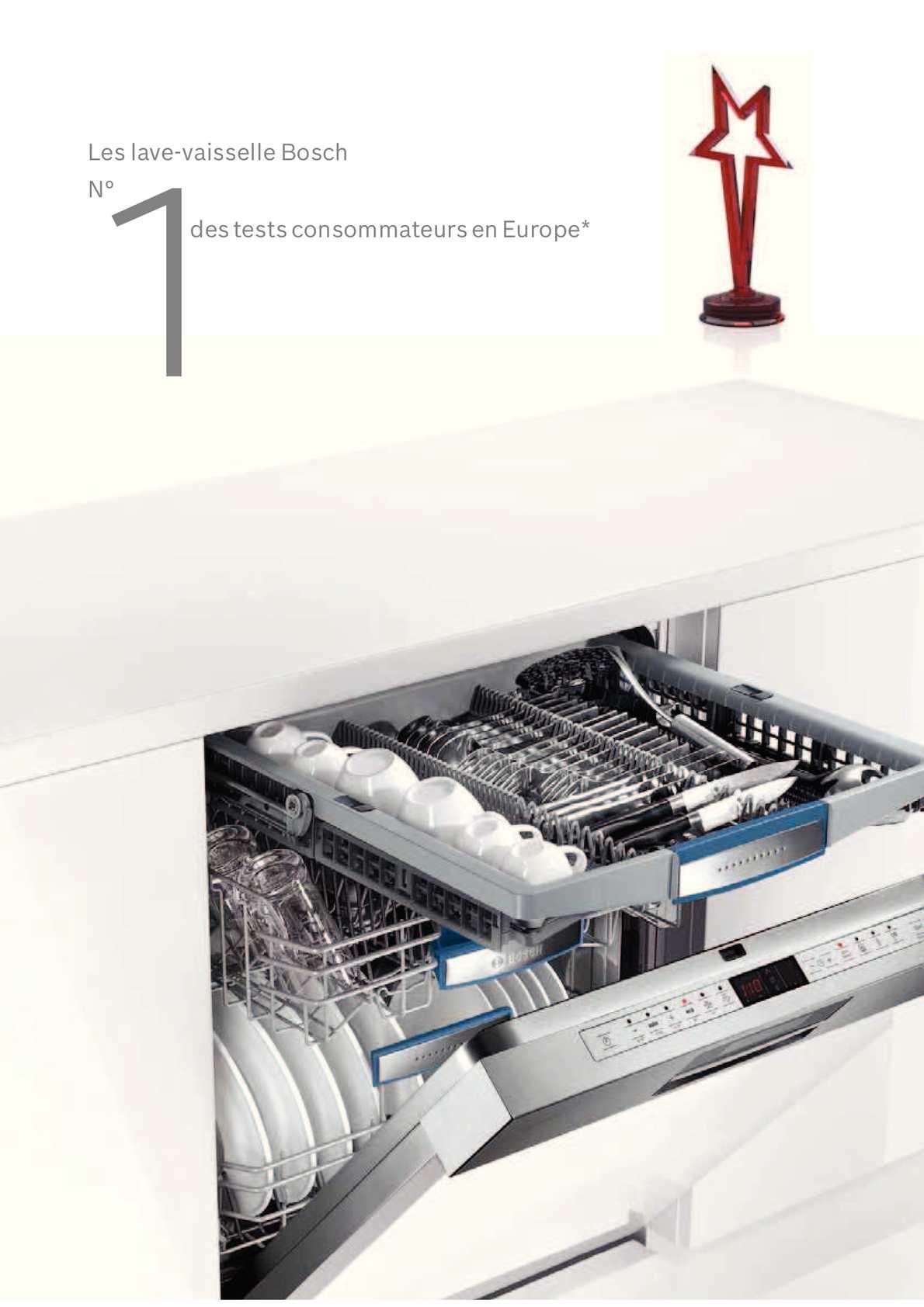 Calam o catalogue lave vaisselle bosch for Interieur lave vaisselle bosch