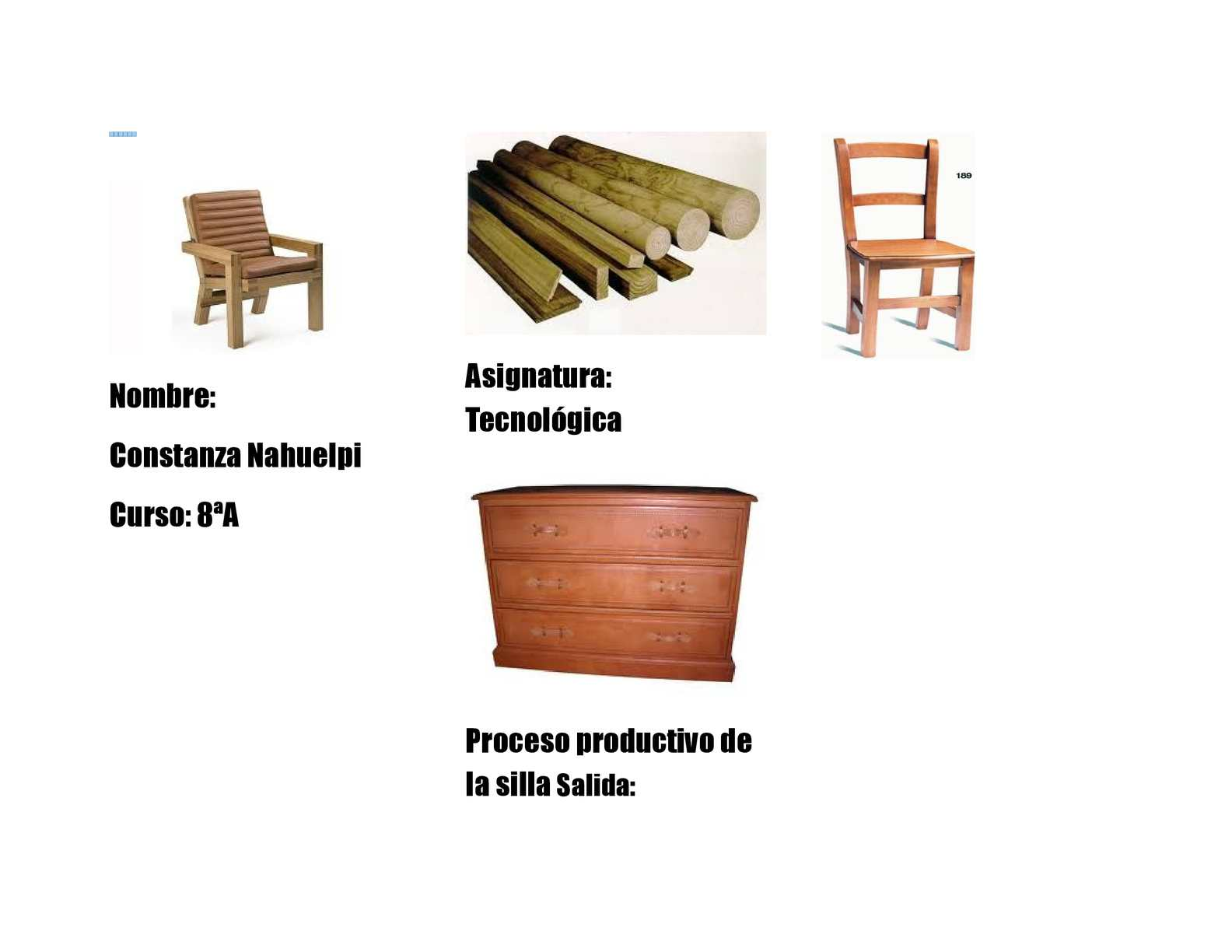 Calam o proceso productivo de la silla for La beta de la madera