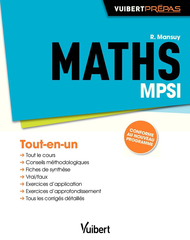 Extrait_Mathématiques MPSI_Vuibert