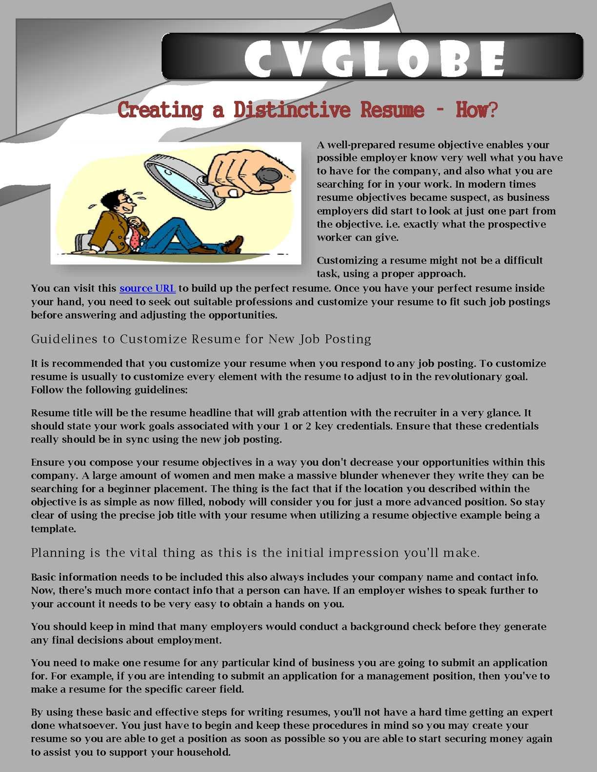 calaméo creating a distinctive resume how