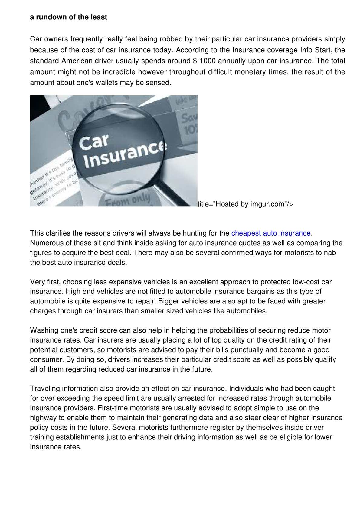 Calameo A Essentials Of The Lowest Priced Auto Insurance