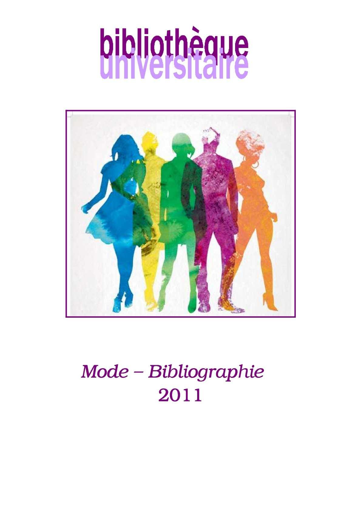 Calaméo - Bibliographie - Fonds mode BU - 2011 0e81b6568ab