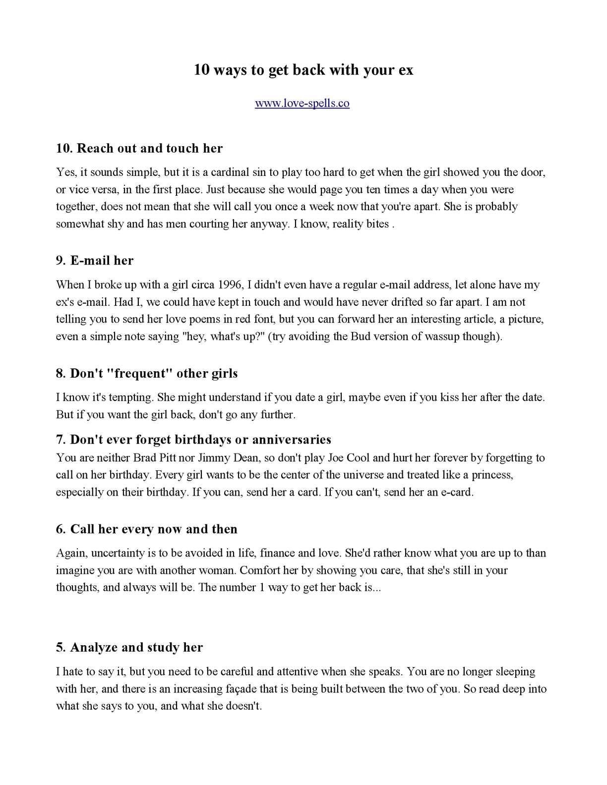 10 ways to get your girlfriend back