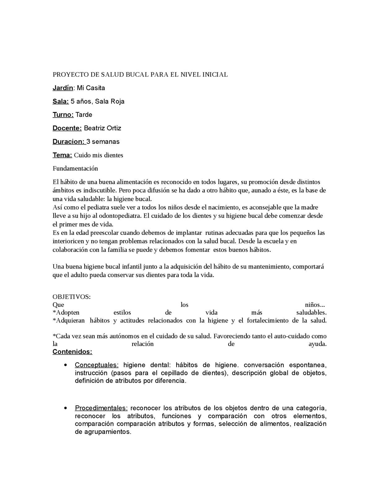 Calaméo - Proyecto de Higiene Bucal para el Nivel Inicial