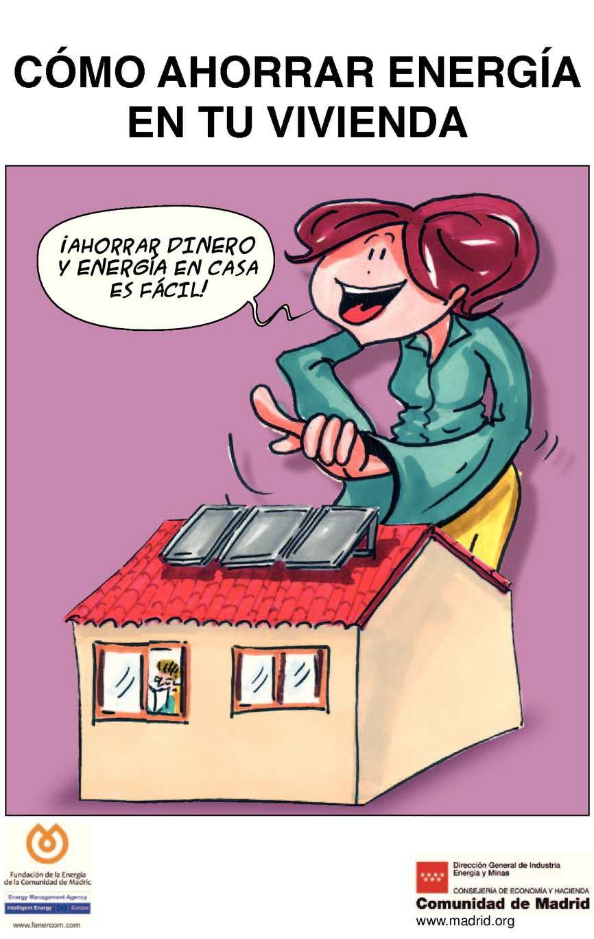 Calam o comic como ahorrar energia en tu vivienda - Ahorrar dinero en casa ...