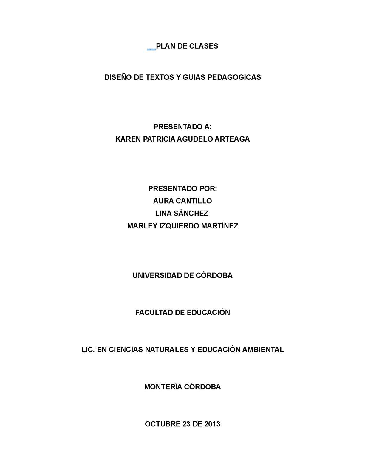 PLAN DE CLASES, CIENCIAS NATURALES