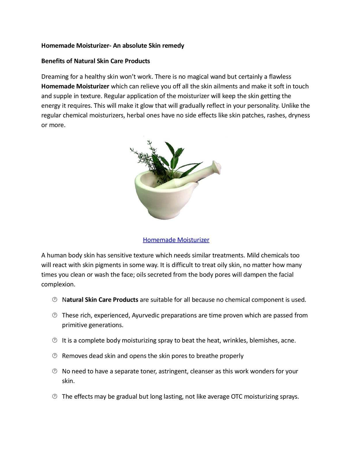 Homemade Moisturizer- An absolute Skin remedy