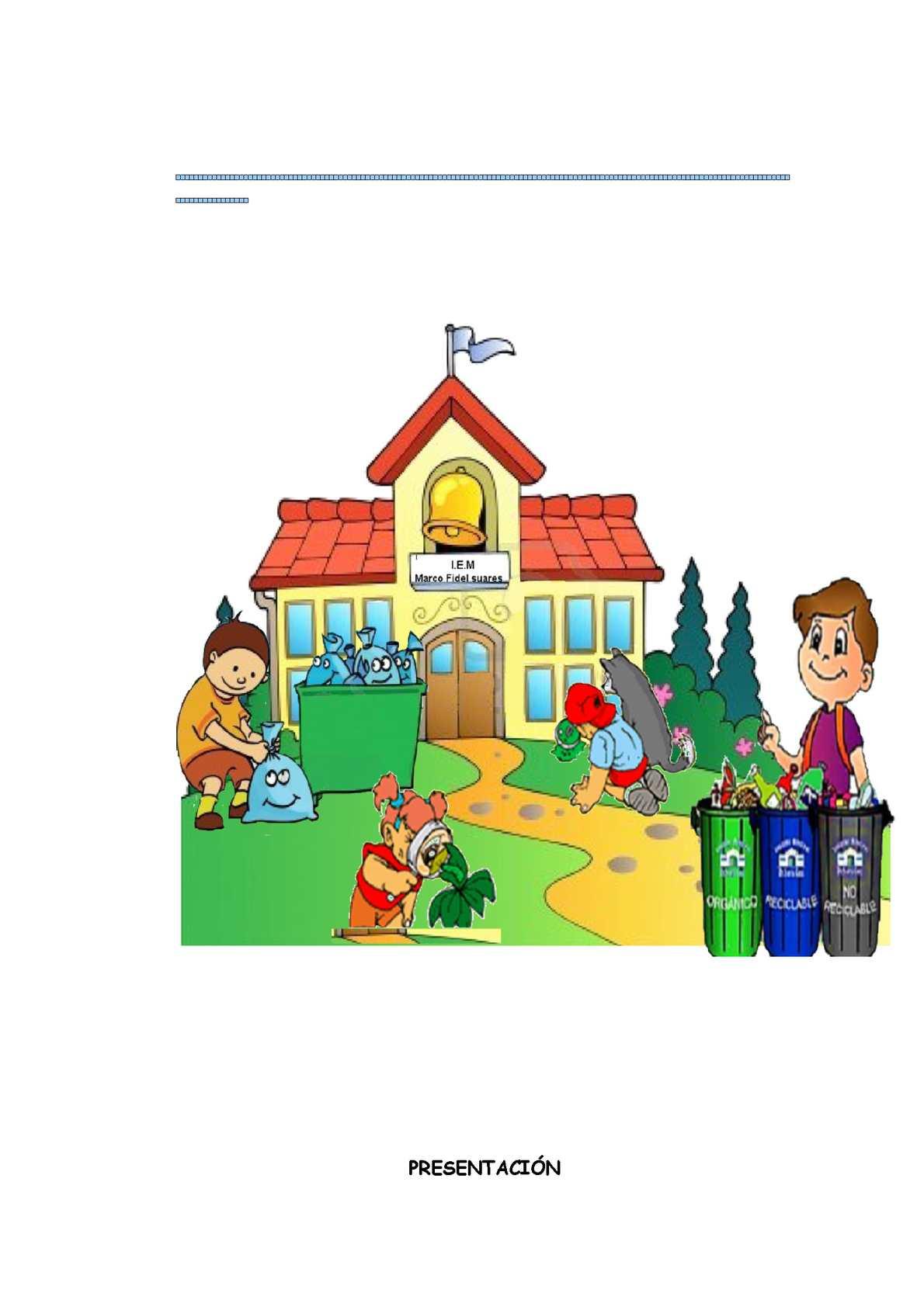Calam o cartilla por una escuela limpia - Como se limpia una casa ...