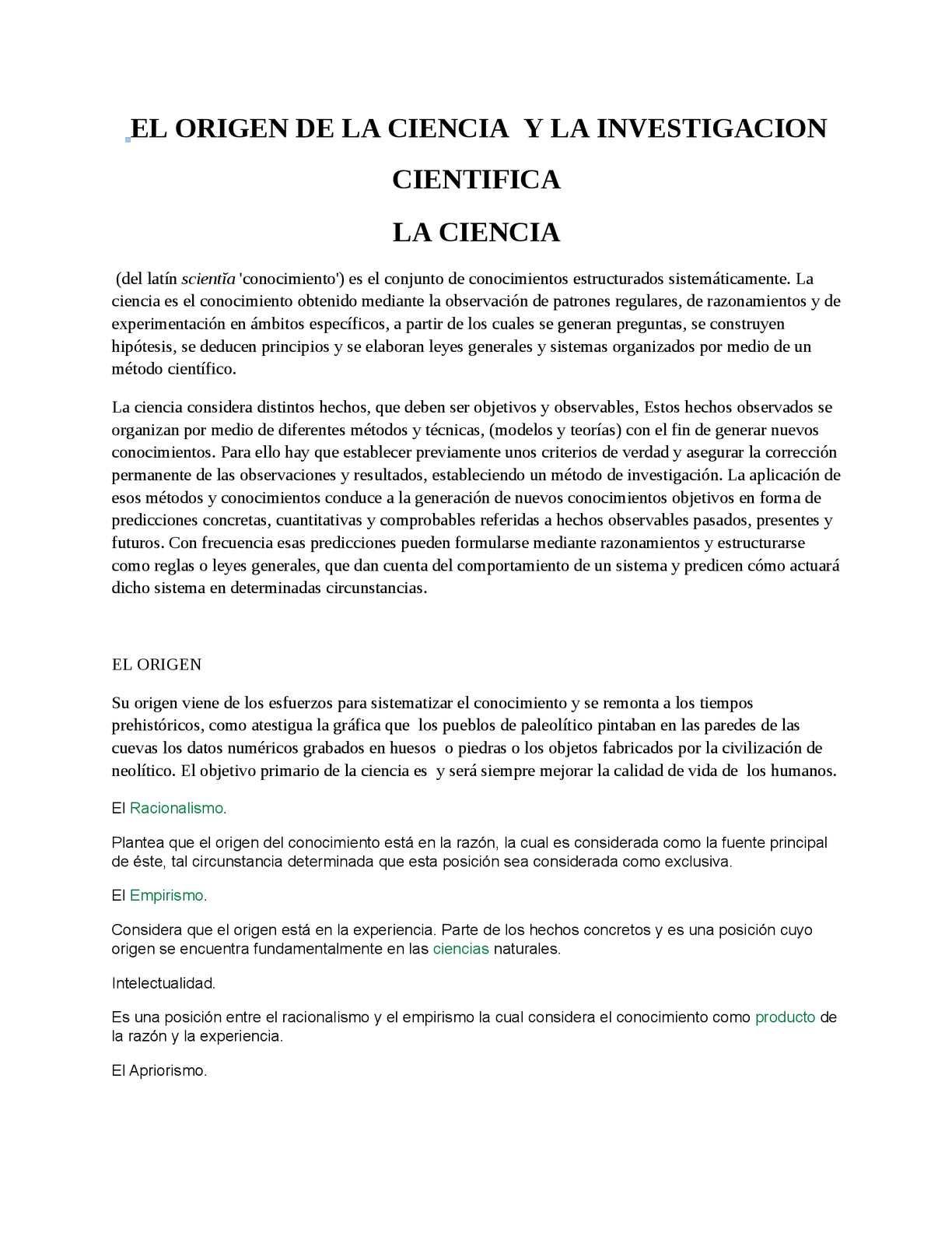 Calaméo - EL ORIGEN DE LA CIENCIA , INVESTIGACION CIENTIFICA Y SU ...