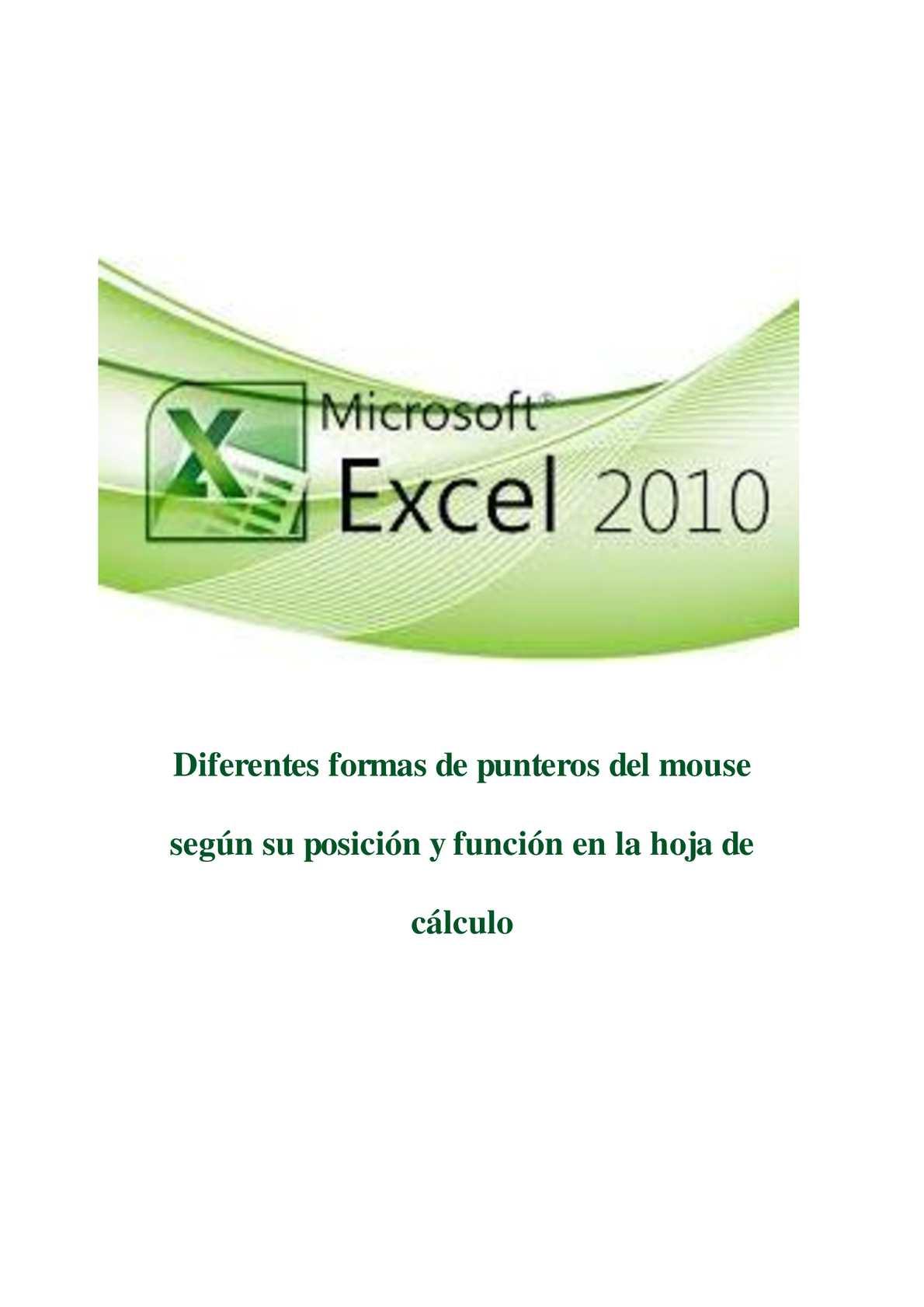 Calaméo - Excel_distintas_formas_que_adopta_el_puntero_del_mouse