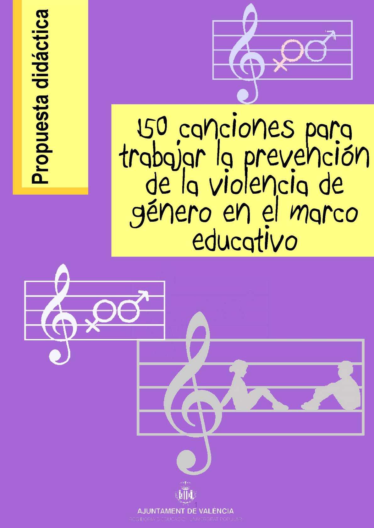 Calaméo - 150 canciones para trabajar la prevención de la violencia ...