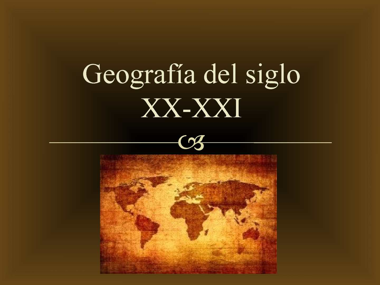 Calam o geograf a del siglo xx xxi for Diseno de interiores siglo xxi