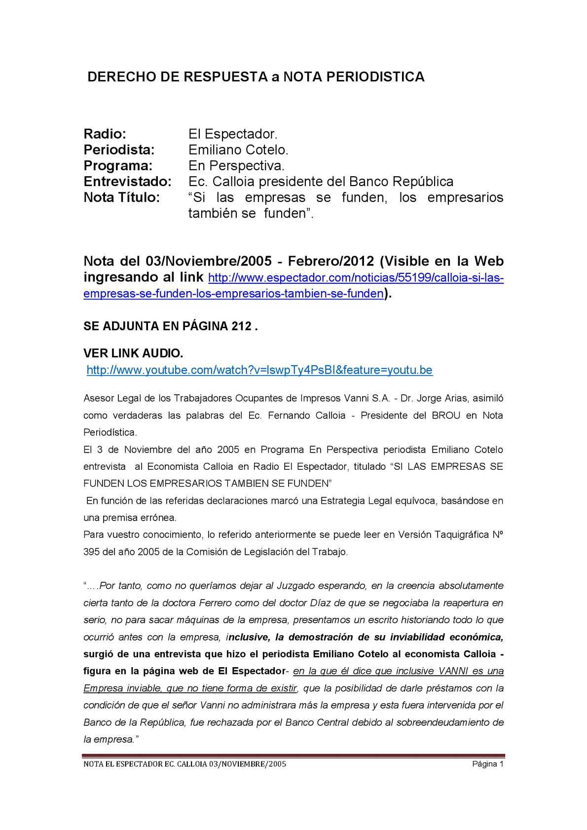 Calaméo - ESPECTADOR CALLOIA LIBRO-ADJUNTOS