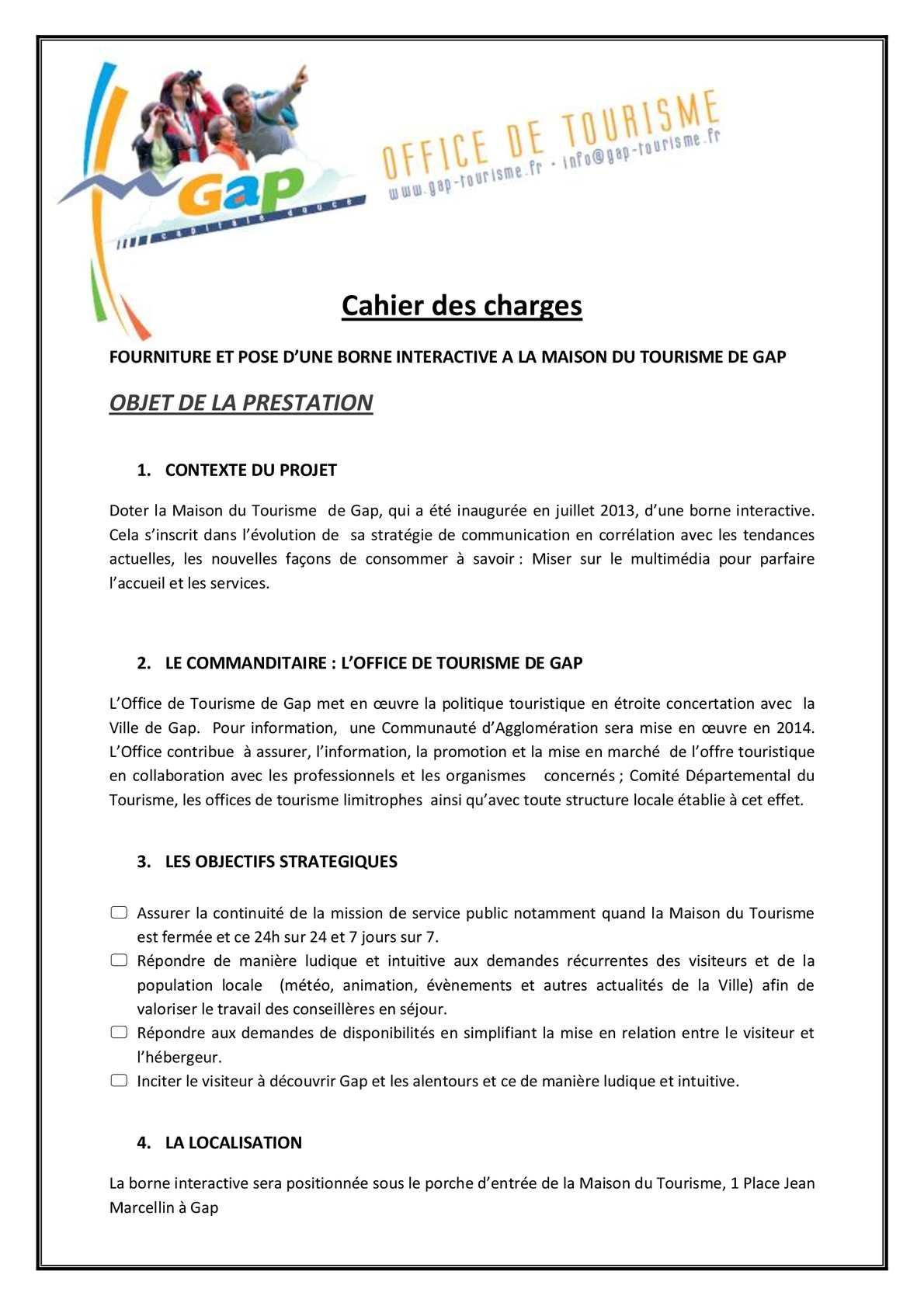 Calaméo   Marché Public   Cahier Des Charges Borne Multimédia