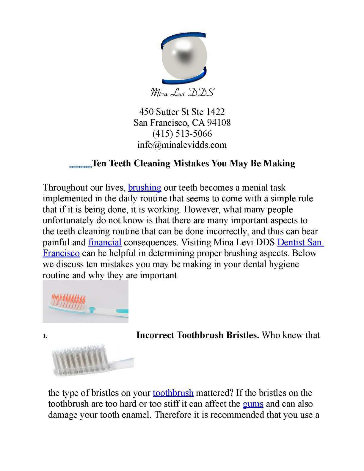 Calameo Ten Mistakes You May Be Making While Cleaning Your Teeth