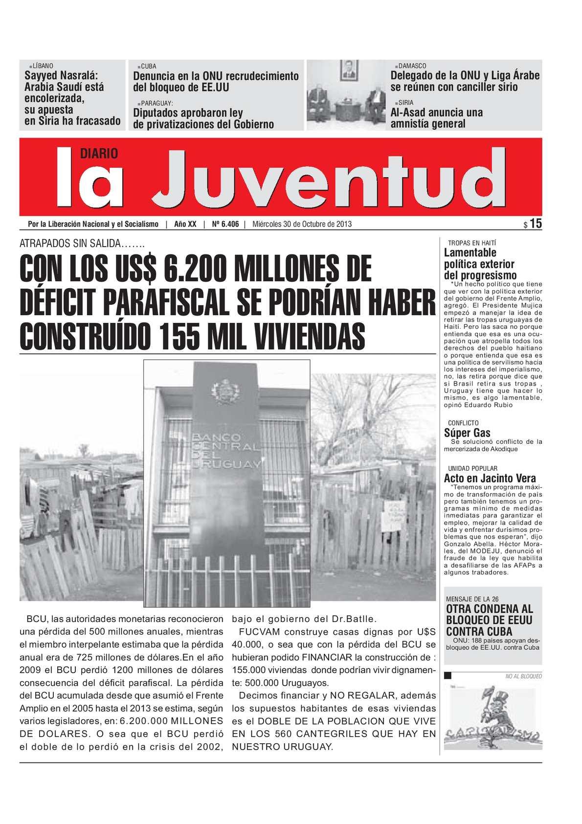 Calaméo - CON LOS US$ 6.200 MILLONES DE DÉFICIT PARAFISCAL SE ...