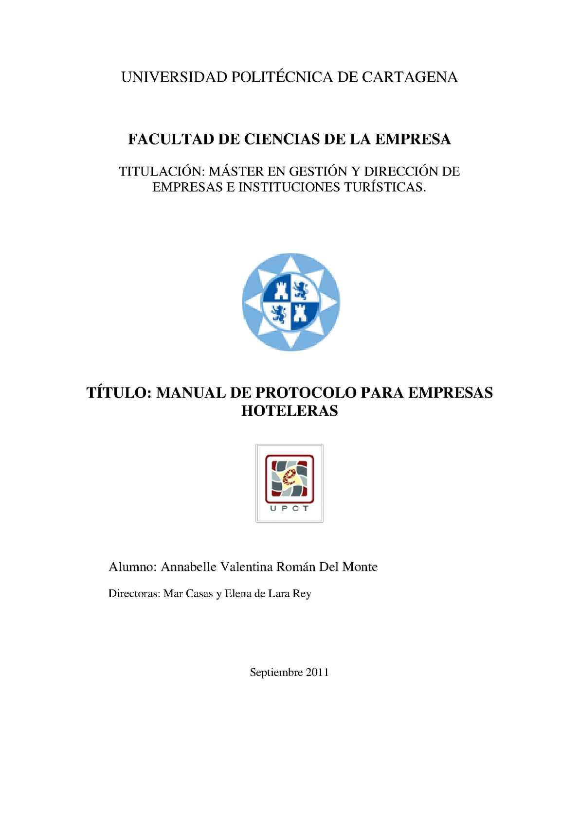 Calaméo - Manual de Protocolo para Empresas Hoteleras