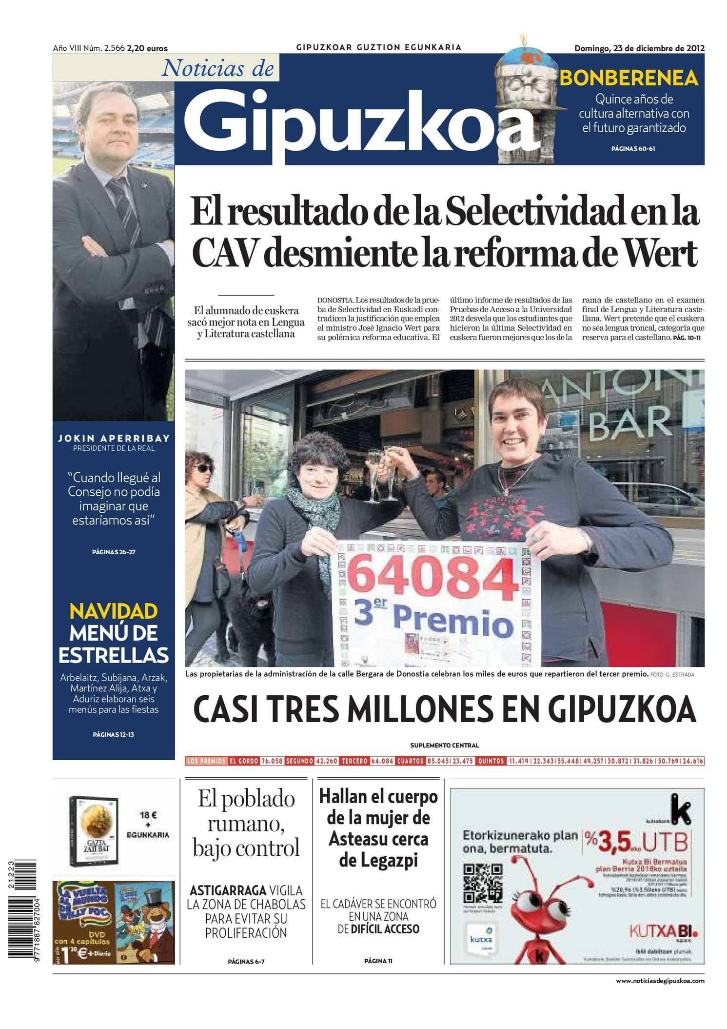 86773a4a2c622 Calaméo - Noticias de Gipuzkoa 20121223